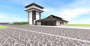 東よか干潟拠点施設外観パース(基本設計段階)