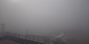 濃霧に包まれた佐賀空港