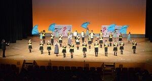 九州各地のグループが一堂に会したマーチングステージフェスティバル=佐賀市文化会館