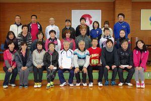 第85回佐賀市ミニテニス大会の参加者