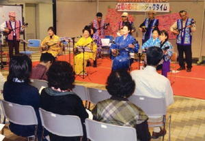 4月8日に出演した、琉球三線(さんしん)「島想いの会」