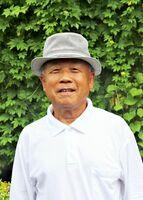 公民館の緑のカーテンは「近年で一番のでき」と目を細める熊井さん