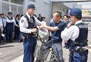 犯罪の兆候つかめ 小城署で職務質問実践訓練