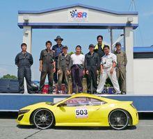 大会に出場した北陵高エコカー部のチーム「ビッグ7」のメンバーら=熊本県大津町(提供写真)
