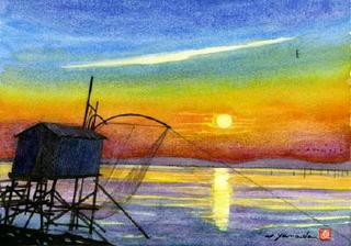 「日の出・有明海」 自然が演出する一瞬