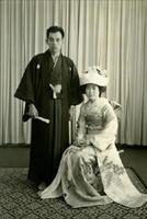 1966年の初夏に式を挙げた城野昭夫さん、ヒサ子さん夫妻