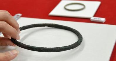 弥生の青銅製環状分銅か、滋賀
