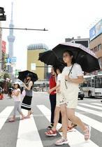 鳥取県米子市と前橋市で36度超