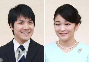 左から小室圭さん、秋篠宮家の長女眞子さま