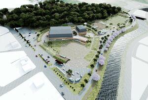 白岩運動公園と新体育館のイメージ