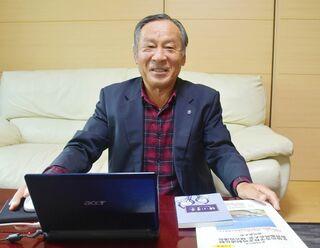 <ニュースこの人>存在意義訴える 県高校定通制教育振興会長・富崎三郎さん(70) 定通制生徒地域で支えを
