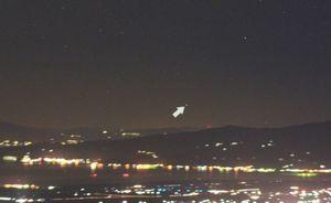 古川さんが撮影した南十字座の最も北に位置する星・ガクルックス(提供写真)=2月3日午前3時半ごろ、小城市の天山8合目から撮影