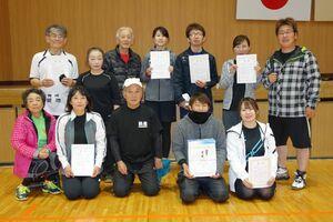 第88回佐賀市ミニテニス大会の上位入賞者