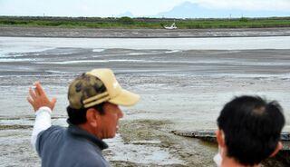 <佐賀大雨>戸ケ里漁港(川副町)に土砂堆積 豪雨影響、船出られず