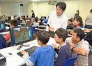 小中生60人ICTに親しむ