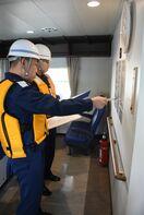 旅客船の安全設備点検