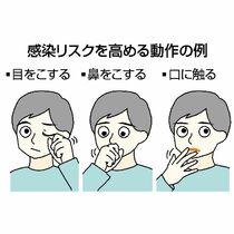 <新型コロナ>マスクない時の予防…