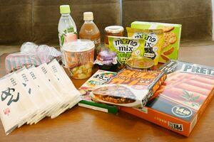1人当たりの食品の例=佐賀市の佐賀大学寄宿舎「楠葉寮」