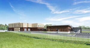 杵島地域汚泥再生処理センターの完成予想図