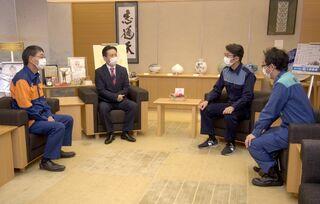 <佐賀2021大雨>内水対策へ連携確認 被災3首長が佐賀県知事訪問