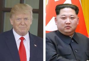 トランプ米大統領(ゲッティ=共同)、北朝鮮の金正恩朝鮮労働党委員長(新華社=共同)