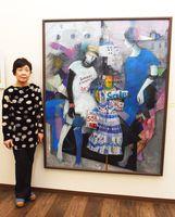 6年ぶりに個展を開いた池上妙子さん=佐賀市川原町のギャラリー山﨑