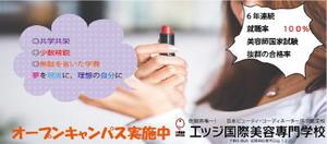 田代絵里華 エッジ国際美容学校の広告