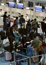 羽田から韓国行き4%減少