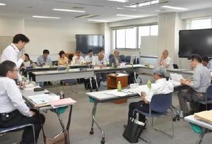 三重津海軍所跡の施設について方針をとりまとめた委員会=佐賀市役所大財別館