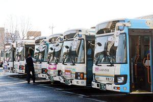 運転士が不足している佐賀市営バス=佐賀市交通局