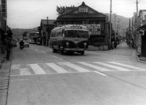 交通の要所である肥前山口駅前(資料・江北町・1965年・昭和40年11月6日)