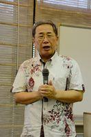 「知的資産経営」の方法などを指南したツトム経営研究所の森下勉所長=佐賀市の佐賀市文化会館