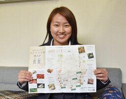 JAさがが作製したアクセスマップ。佐賀の農産物を扱う首都圏の店を紹介している
