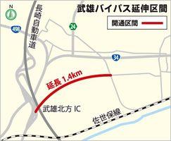武雄バイパス延伸区間地図