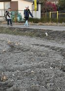 児童ら「寒いね」 佐賀県内で初霜観測