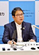 九州電力社長「誠に申し訳ない」 玄海原発内火災で陳謝