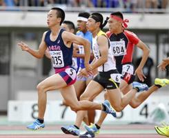 高校総体、宮本男子100mV2