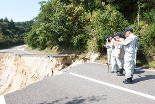 富士町、三瀬村被災現場を視察