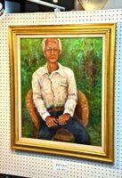80歳で亡くなった恩師の兵動健吾さんを描いた絵も飾られた