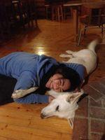 カフェのっちの愛犬ギンと幸せショット