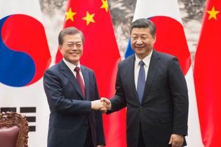 中韓首脳、対話解決を強調