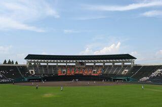 14日、第3試合の唐津西―北陵は順延 高校野球佐賀大会・3回戦