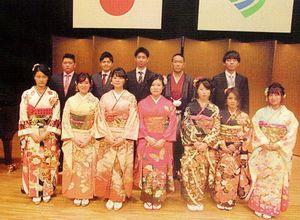 神埼市成人式の実行委員を担った新成人の皆さん