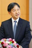 59歳の誕生日に先立ち記者会見される皇太子さま=東京・元赤坂の東宮御所(代表撮影)