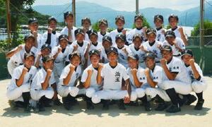 県中学総体で4強入りした浜玉中野球部