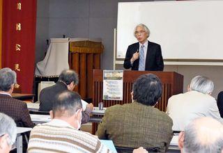 佐賀空港の発展考える市民講座 元アバンセ館長講演