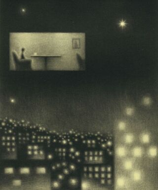 ほっとクリップ▽笹井さんの短歌と銅版画