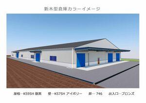 ポンプ、水門メーカーのミゾタが佐賀市川副町に設ける新倉庫のイメージ図。部品の鋳造に用いる木型を集約して保管する