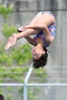 飛び込み女子 若林侑花(佐賀ダイビングクラブ)の演技=佐賀市の県水泳場