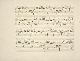 フリデリク・ショパン《エチュードヘ長調 作品10-8、自筆譜(製版用)(1833年以前、インク・紙、NIFC=国立フリデリク・ショパン研究所附属フリデリク・ショパン博物館)
